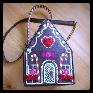 Betsey Johnson Christmas Gingerbread House Purse